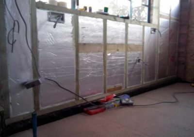 Garage-conversion---Insulation-boards-between-timbers